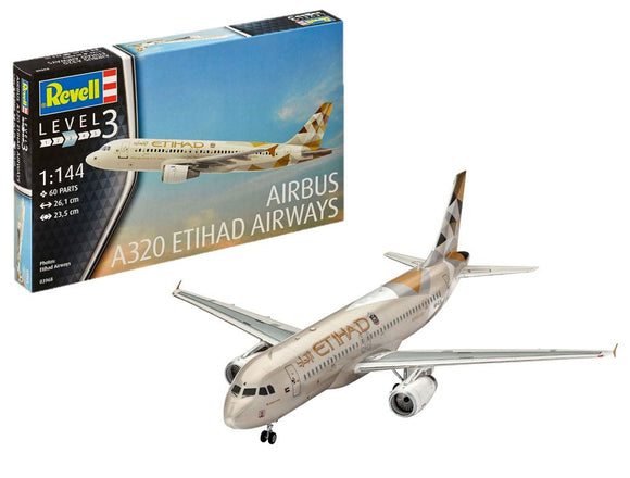 Revell 03968 1/144 Airbus A320 Etihad Airways Model Kit - SGS Model Store