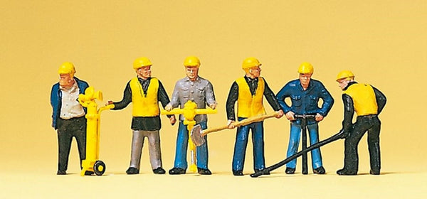 Preiser 10035 00/H0 Scale Track Maintenance Gang with Tools Model Railway Figures - SGS Model Store
