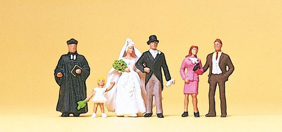 Preiser 10057 00/H0 Protestant Wedding Group Model Railway Figure Set - SGS Model Store