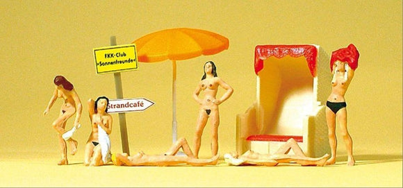 Preiser 10107 00/H0 Nude Bathers Model Railway Figure Set - SGS Model Store