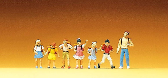 Preiser 10181 00/H0 School Children and Teacher Model Railway Figure Set - SGS Model Store