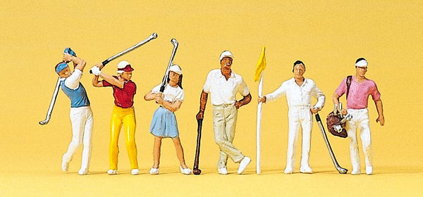 Preiser 10231 00/H0 Golfers Model Railway Figure Set - SGS Model Store