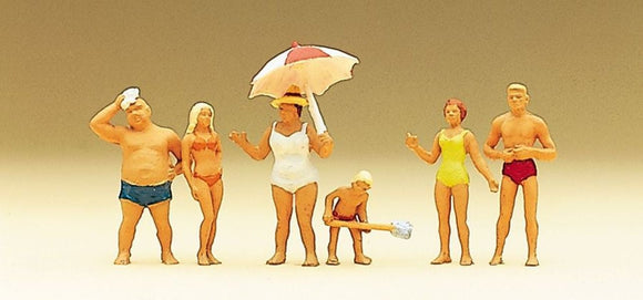 Preiser 10283 00/H0 Family Krause at the Beach Model Railway Figure Set - SGS Model Store