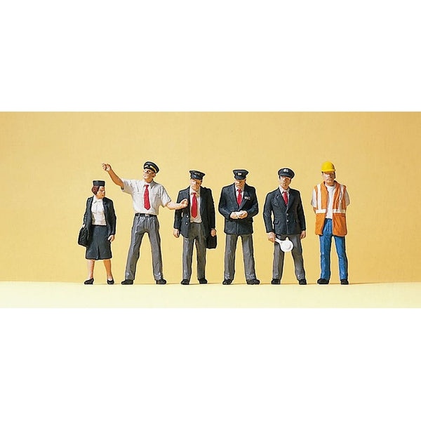 Preiser 10410 H0 Scale BR Railway Personnel Figure Set