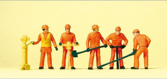 Preiser 14035 00/H0 Track Workers Model Railway Figures Model Railway Figures - SGS Model Store