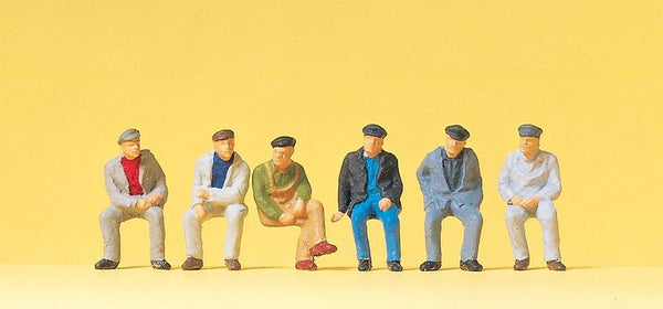 Preiser 14084 00/H0 Seated Workers Model Railway Figures - SGS Model Store