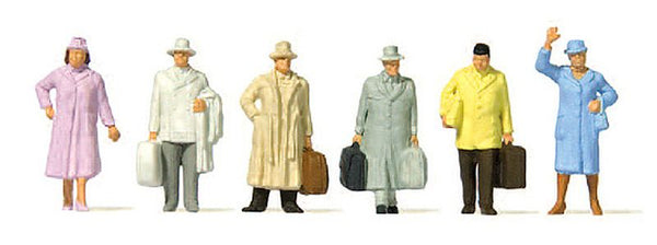 Preiser 14117 00/H0 Travellers Era III Model Railway Figures - SGS Model Store