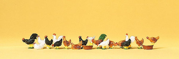 Preiser 14168 00/H0 Scale Chickens Model Railway Figures - SGS Model Store