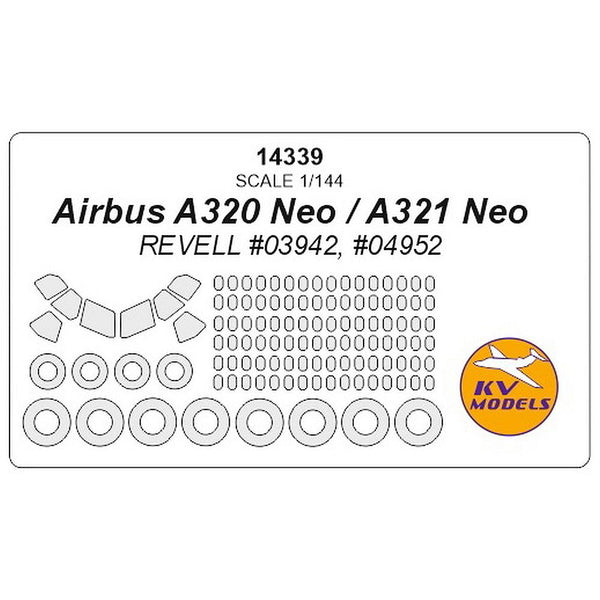 KV Models 14339 1/144 Airbus A320Neo / A321Neo Paint Mask
