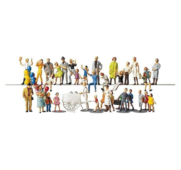 Faller 153006 00/H0 Fairground Visitors Model Railway Figure Set - SGS Model Store