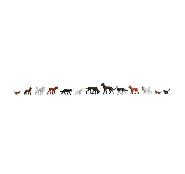 Faller 154012 00/H0 Cats and Dogs Model Railway Figure Set - SGS Model Store