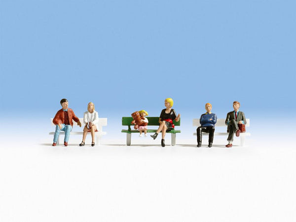 Noch 15530 H0 Scale Seated People with Benches Model Railway Figures - SGS Model Store