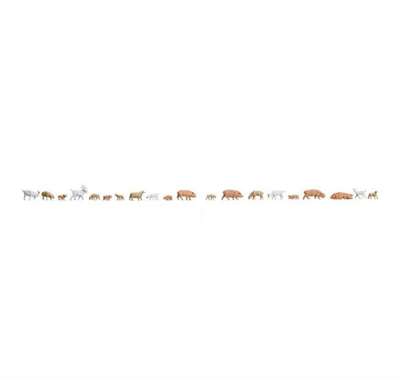 Faller 155512 N Scale Small Animals Model Railway Figure Set - SGS Model Store