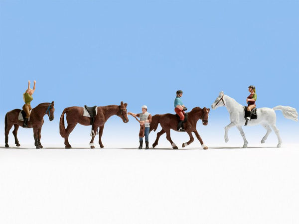 Noch 15630 H0 Scale Horses And Riders Model Railways Figures - SGS Model Store
