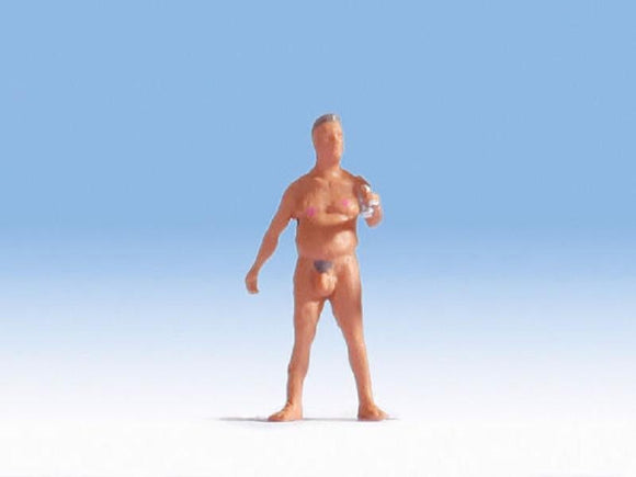 Noch 1584303 00/H0 Heinz the Nude Bather Model Railway Figure