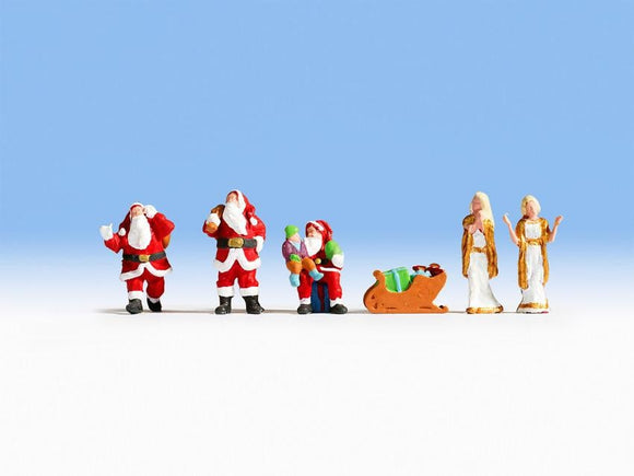 Noch 15920 00/H0 Scales Santa Claus and Angels Model Railway Figures - SGS Model Store