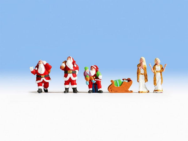 Noch 15920 H0 Scale Santa Claus and Angels Model Railway Figures - SGS Model Store