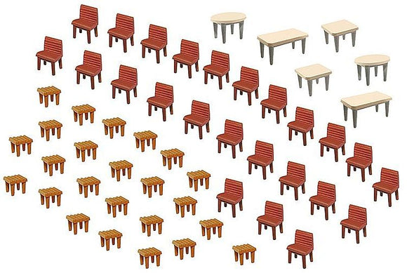 Faller 180438 H0 Tables & Chairs Model Railway Accessories - SGS Model Store