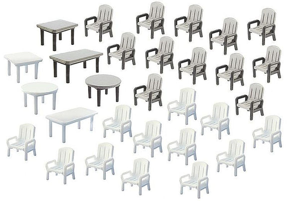 Faller 180439 H0 Garden chairs and tables Model Railway Accessories - SGS Model Store