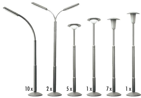 Faller 180538 H0 Street Lamp Set Model Railway Accessories - SGS Model Store