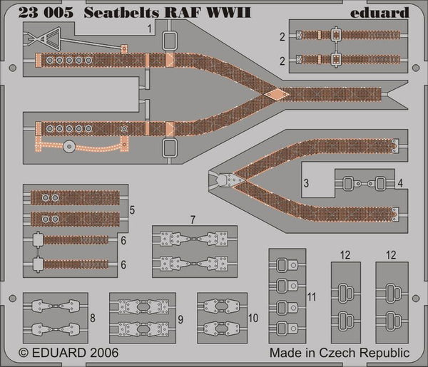 Eduard 23005 1/24 Photo etched Seat belts RAF WWII early version - SGS Model Store