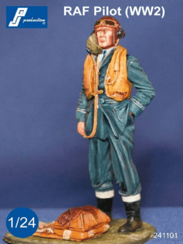 PJ Production 241101 1/24 RAF Pilot WWII standing Resin Figure - SGS Model Store