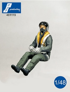 PJ Production 481119 1/48 RAF pilot seated 1950's/1960's  Resin Figure - SGS Model Store