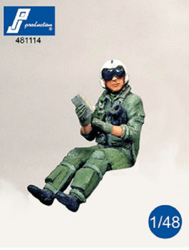 PJ Production 481114 1/48 US Navy pilot seated in aircraft Resin Figure - SGS Model Store