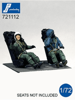 PJ Production 721112 1/72 modern French pilots seated Resin Figures - SGS Model Store