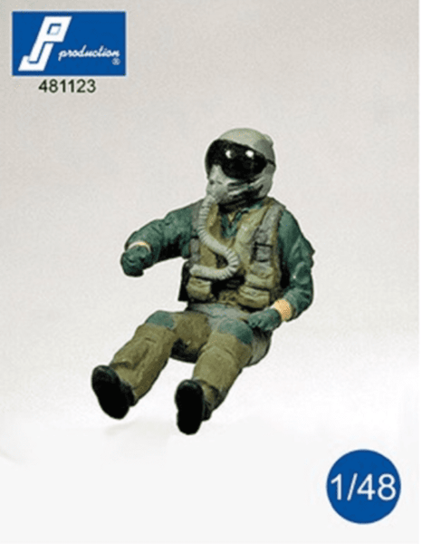 PJ Production 481123 1/48 F-16/F-18 pilot seated in aircraft Resin Figure - SGS Model Store