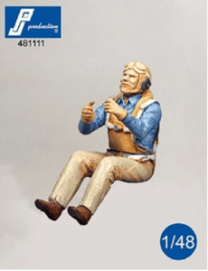 PJ Production 481111 1/48 US Navy gunner seated in aircraft Resin Figure - SGS Model Store
