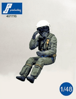 PJ Production 481116 1/48 Modern French Pilot seated in aircraft Resin Figure - SGS Model Store