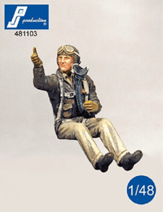 PJ Production 481103 1/48 WWII USAF fighter Pilot seated in aircraft - SGS Model Store