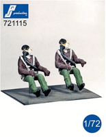 PJ Production 721115 1/72 US Pilots seated in aircraft 1950's Resin Figures - SGS Model Store