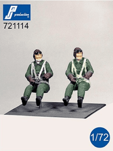 PJ Production 721114 1/72 Japanese WWII pilots seated Resin Figures - SGS Model Store