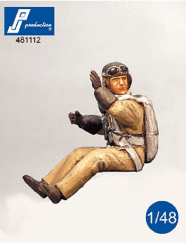 PJ Production 481112 1/48 French fighter pilot seated in aircraft Resin Figure - SGS Model Store