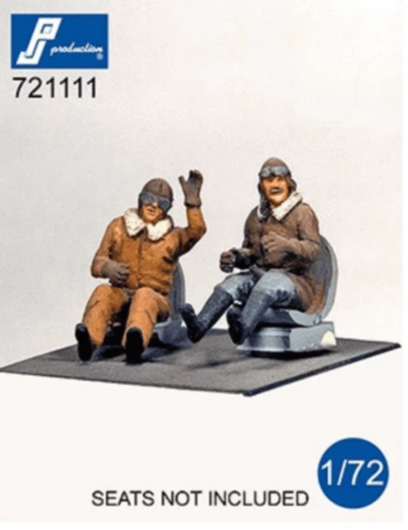 PJ Production 721111 1/72 WWI pilots seated Resin Figures - SGS Model Store