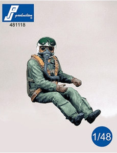 PJ Production 481118 1/48 NATO Pilot 1960's seated Resin Figure - SGS Model Store