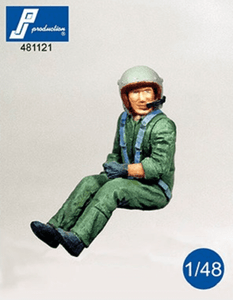 PJ Production 481121 1/48  French Helicopter pilot seated Resin Figure - SGS Model Store