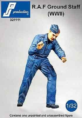 PJ Production 321111 1/32 WWII RAF ground crew figure Resin Figure - SGS Model Store