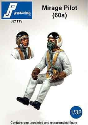 PJ Production 321119 1/32 Mirage IIIC Pilot 60's seated in aircraft Resin Figure - SGS Model Store