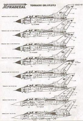 Xtradecal X48003 1/48 Panavia Tornado GR.1/F.2/F.3 Model Decals - SGS Model Store