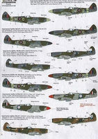 Xtradecal X48130 1/48 Supermarine Spitfire Mk.XIV Model Decals - SGS Model Store