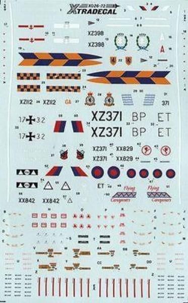 Xtradecal X72026 1/72 Sepecat Jaguar GR.1/T2 Model Decals