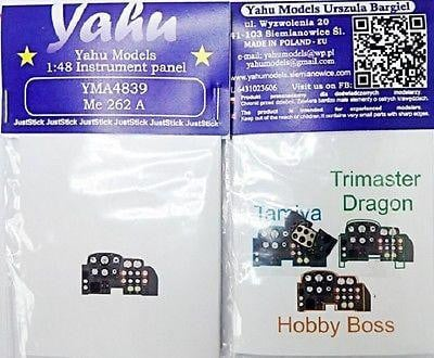 Yahu Models YMA4839 1/48 Messerschmitt Me 262A Instrument Panel for Tamiya - SGS Model Store