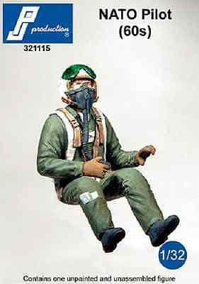 PJ Production 321115 1/32 Nato pilot of the 60s Resin Figure - SGS Model Store