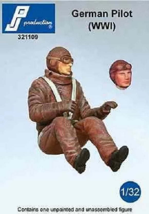 PJ Production 321109 1/32 German (WWI) pilot seated in aircraft Resin Figure - SGS Model Store