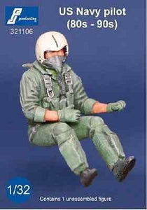 PJ Production 321106 1/32 USN Pilot 1980/90's seated in aircraft Resin Figure - SGS Model Store
