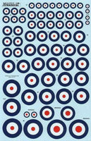Xtradecal X72111 1/72 RAF National Insignia/Roundels 1920 - 1939 Model Decals - SGS Model Store
