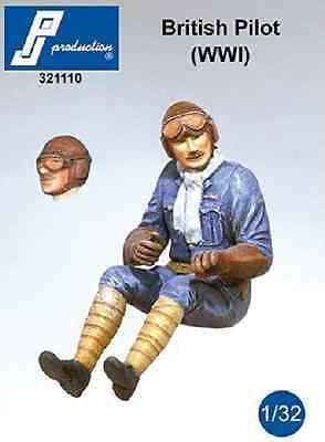 PJ Production 321110 1/32 British (WWI) pilot seated in aircraft Resin Figure - SGS Model Store